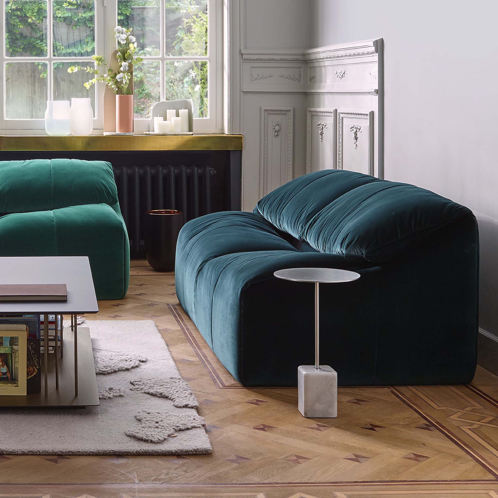 canape ligne roset solde set de canap s togo en cuir noir par michel ducaroy pour 1960 vintage. Black Bedroom Furniture Sets. Home Design Ideas