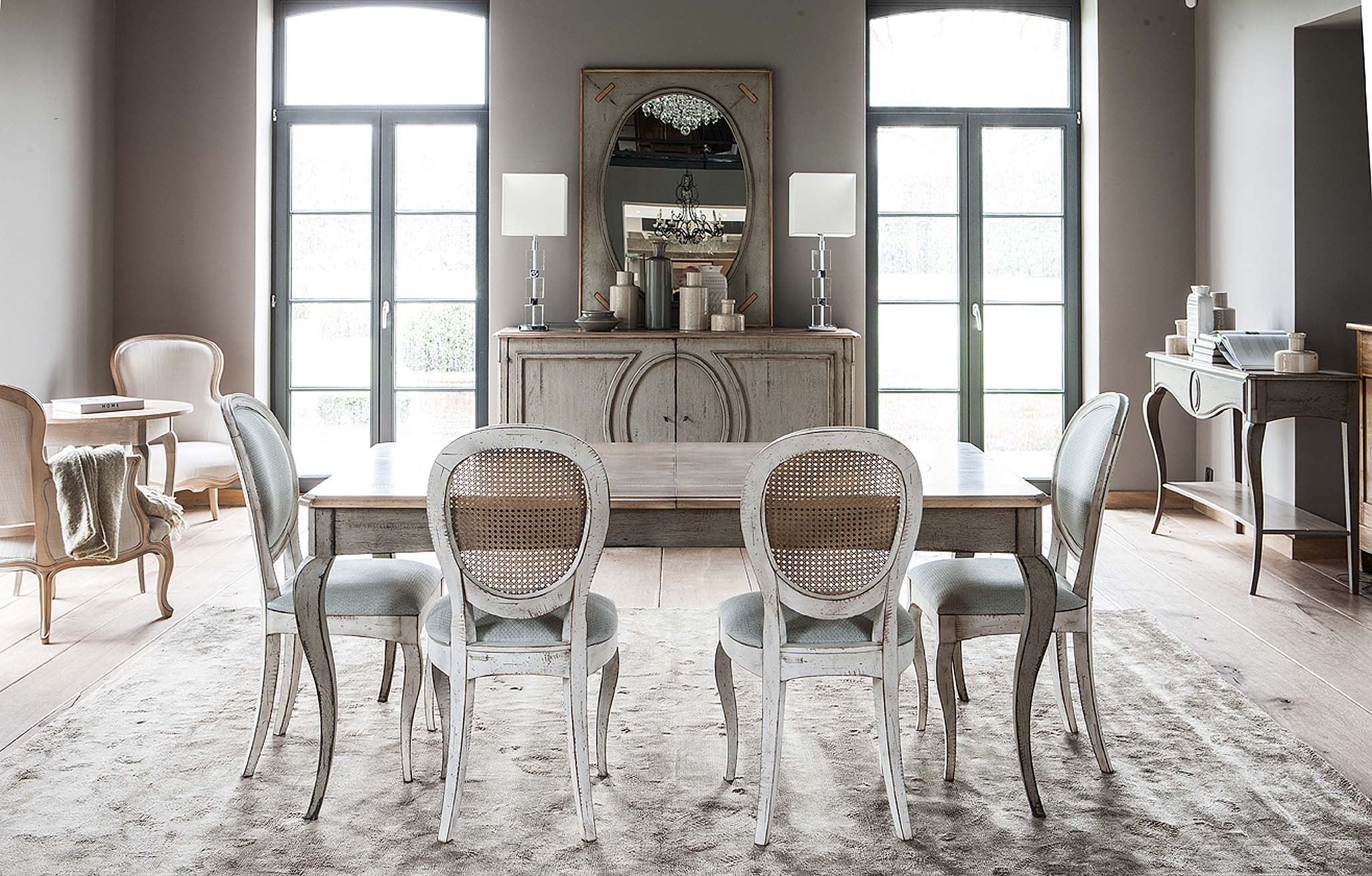 Medaillon Dining Tables Extendable Domo # Table Grange France