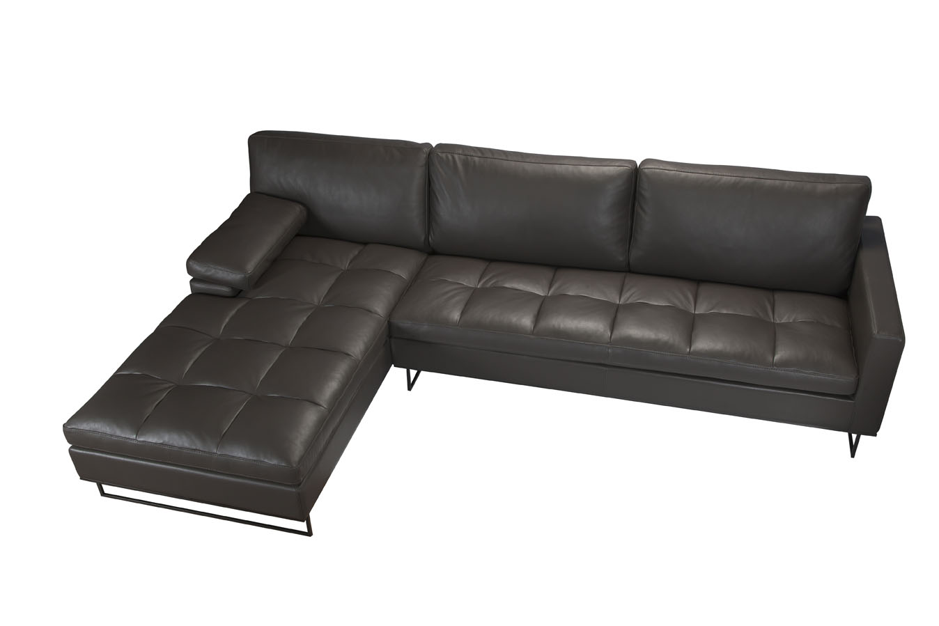 Saint Clair L Shaped Sofa Quilted Seat Chaise Domo